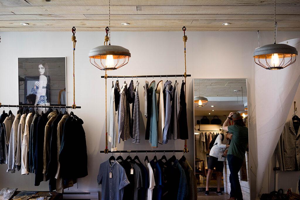 exposição layout de loja