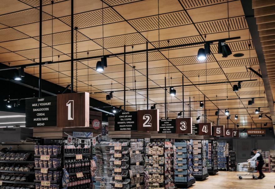 sinalização layout de loja
