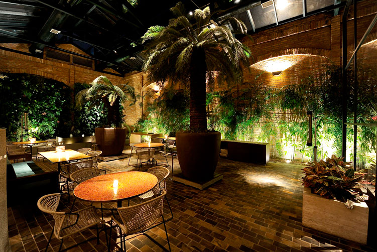 área externa restaurante cantaloup