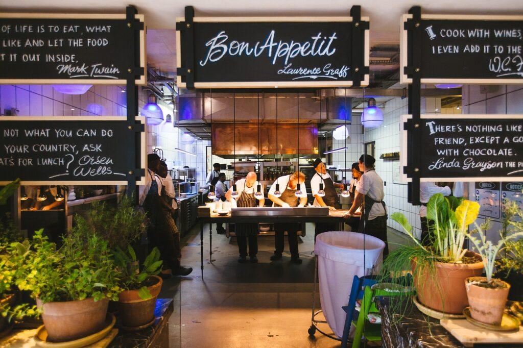 Identidade do Restaurante no ambiente