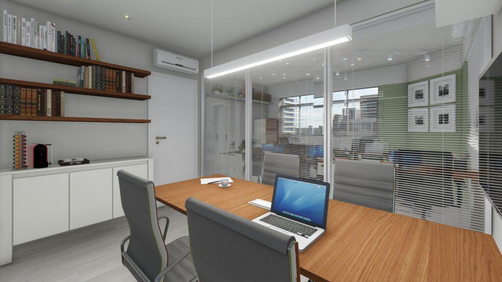 Projeto Estúdio k - Sala de Reuniões Advocacia LFS